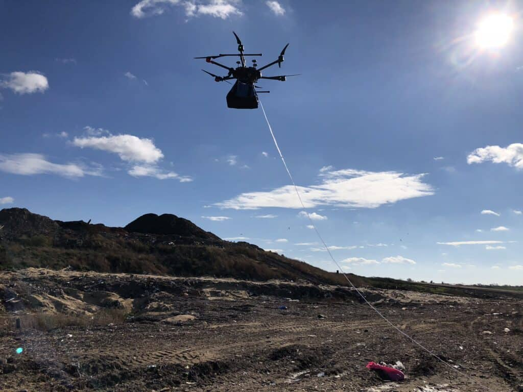 Some innovators are working on drone-bound sensors to measure methane, other landfill gases and more.