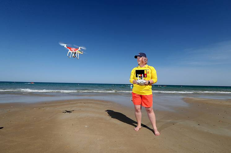 One of 51 drones recently provided to surf lifesaving clubs across the country. Kiama Surf Lifesaving Club is one of nine South Coast clubs to share a new drone.