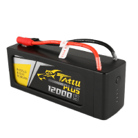 Tattu Plus 12000mAh 22.2V 15C 6S1P Lipo Smart Battery Pack with AS150 + XT150 Plug