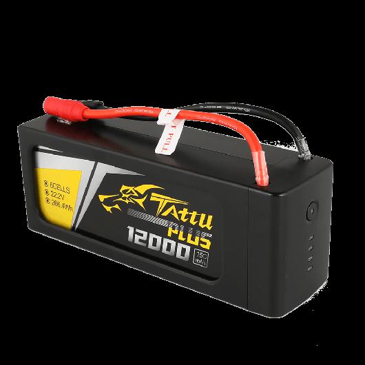 Tattu Plus 12000mAh 22.2V 15C 6S1P Lipo Smart Battery Pack with AS150 + XT150 Plug