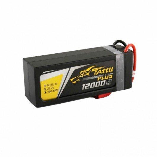 Tattu Plus 12000mAh 22.2V 15C 6S1P Lipo Smart Battery Pack with EC5 Plug